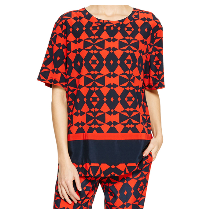 INK DKNY GEOMETRIC PRINT BLOUSE Outlet Online
