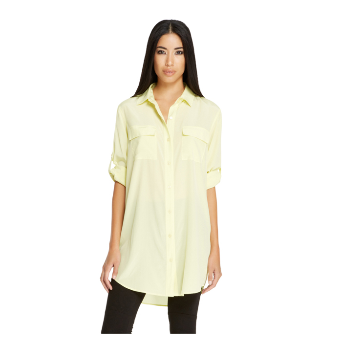 PARROT DKNY BUTTON THRU TUNIC SHIRT Outlet Online
