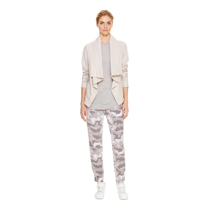 STONE DKNY DKNYPURE WASHED LEATHER DRAPE JACKET Outlet Online