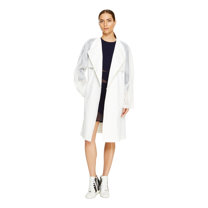 OFF WHITE DKNY MESH SLEEVE TRENCH Outlet Online