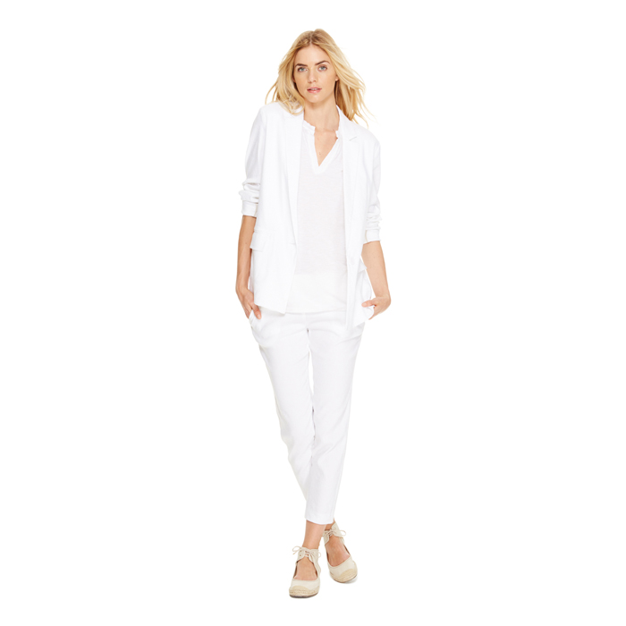 WHITE DKNY DKNYPURE ONE BUTTON JACKET Outlet Online