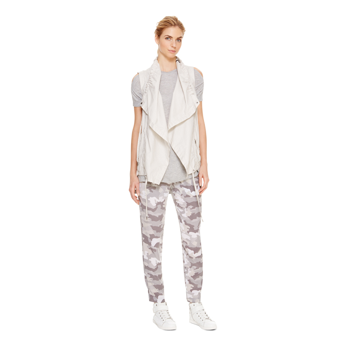 STONE DKNY DKNYPURE COATED OPEN FRONT VEST Outlet Online