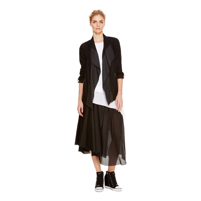 BLACK DKNY DKNYPURE ZEN STRETCH DRAPE JACKET Outlet Online