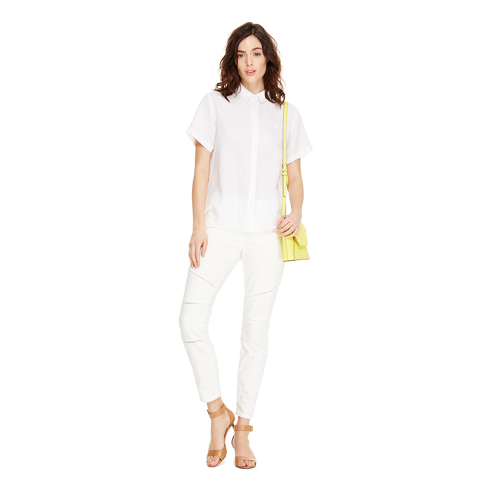 WHITE DKNY JEANS ULTRA SKINNY CROP Outlet Online