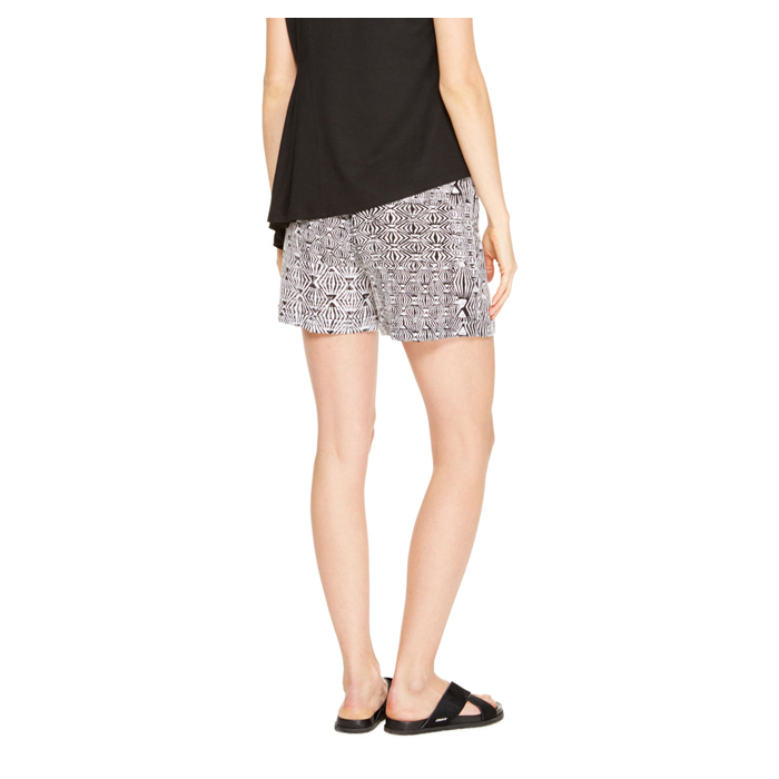 BLACK DKNY DKNYPURE PRINTED SILK SHORTS Outlet Online