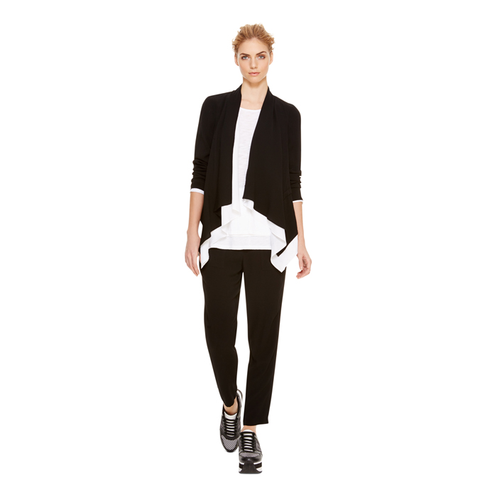 BLACK DKNY DKNYPURE GHOST CREPE PULL ON PANT Outlet Online