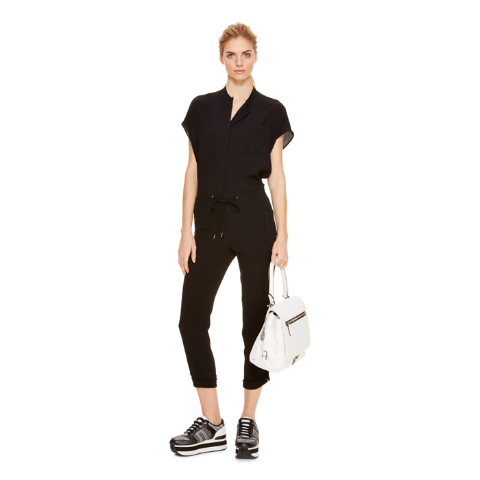 BLACK DKNY DKNYPURE GHOST CREPE JUMPSUIT Outlet Online