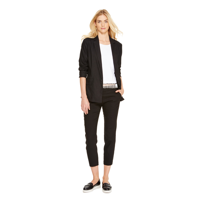 BLACK DKNY DKNYPURE CROPPED PULL ON PANT Outlet Online