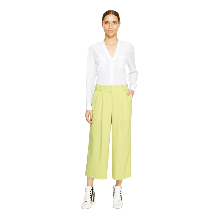 SAND GRASS DKNY CROPPED TROUSER Outlet Online