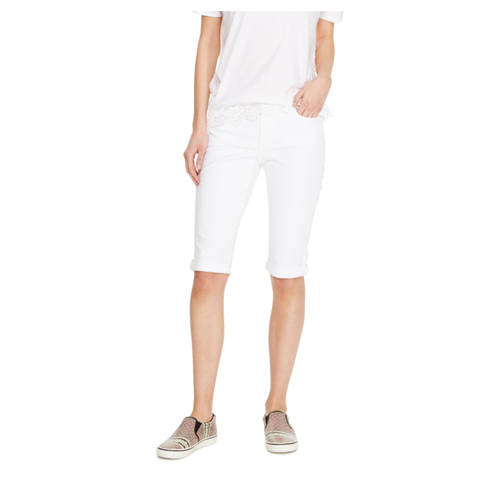 WHITE DKNY JEANS LUDLOW CUFFED SHORT Outlet Online