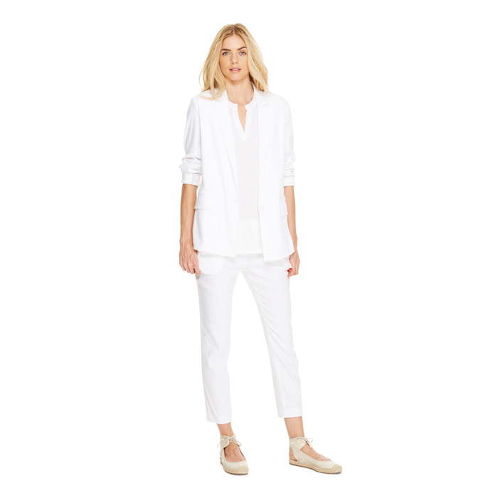 WHITE DKNY DKNYPURE CROPPED PULL ON PANT Outlet Online