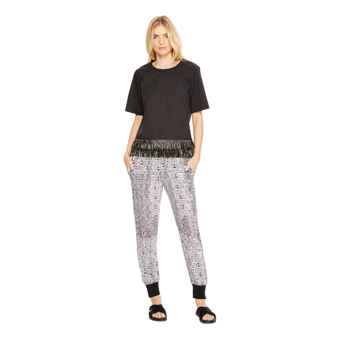 BLACK DKNY DKNYPURE PRINTED PULL ON PANT Outlet Online