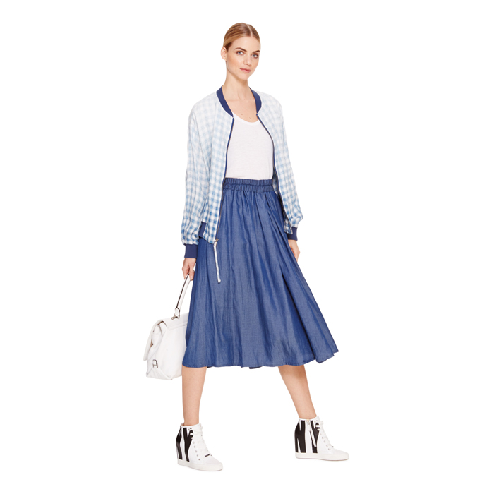 INDIGO DKNY DKNYPURE PLEATED MIDI SKIRT Outlet Online