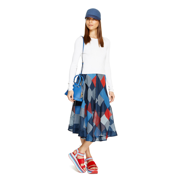INK DKNY ORGANZA MIDI SKIRT Outlet Online