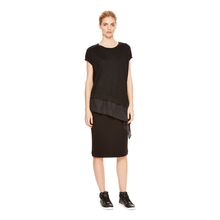 BLACK DKNY DKNYPURE FRENCH TERRY PULL ON SKIRT Outlet Online