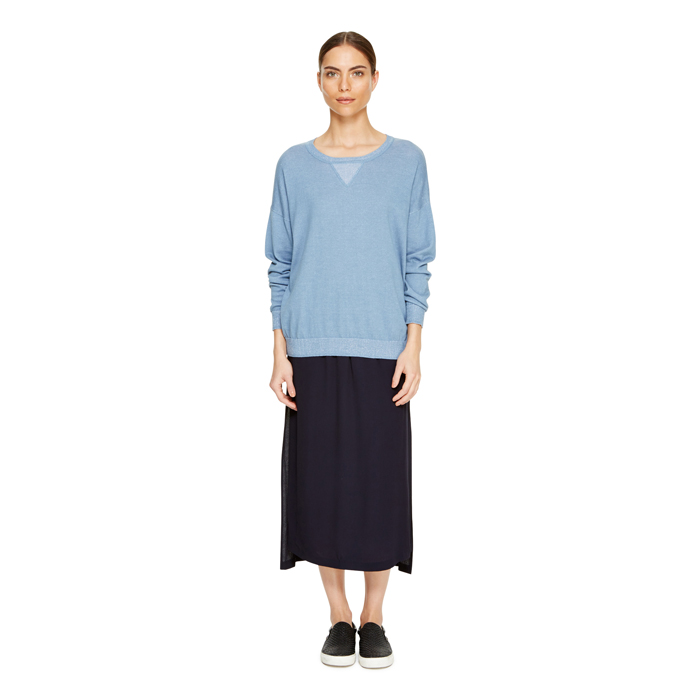 MIDNIGHT DKNY DKNYPURE CREPE PULL ON SKIRT Outlet Online