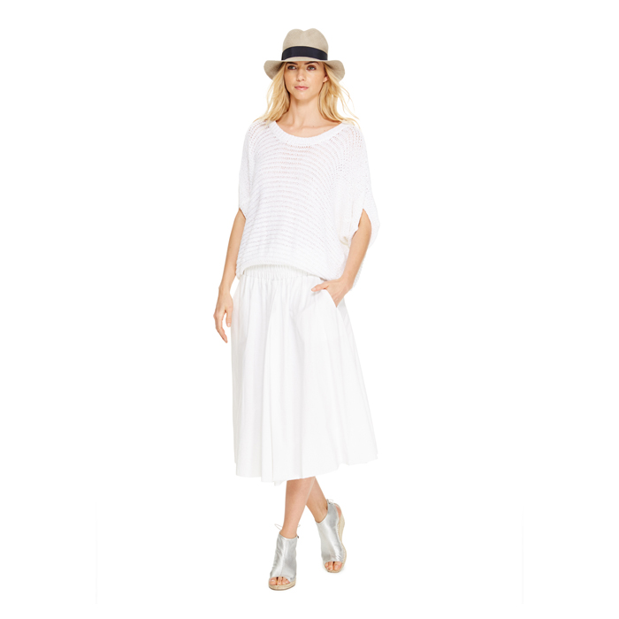 WHITE DKNY DKNYPURE FULL SKIRT Outlet Online