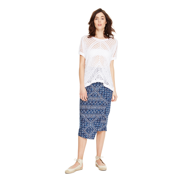 MOOD INDIGO DKNY JEANS PRINTED WRAP SKIRT Outlet Online