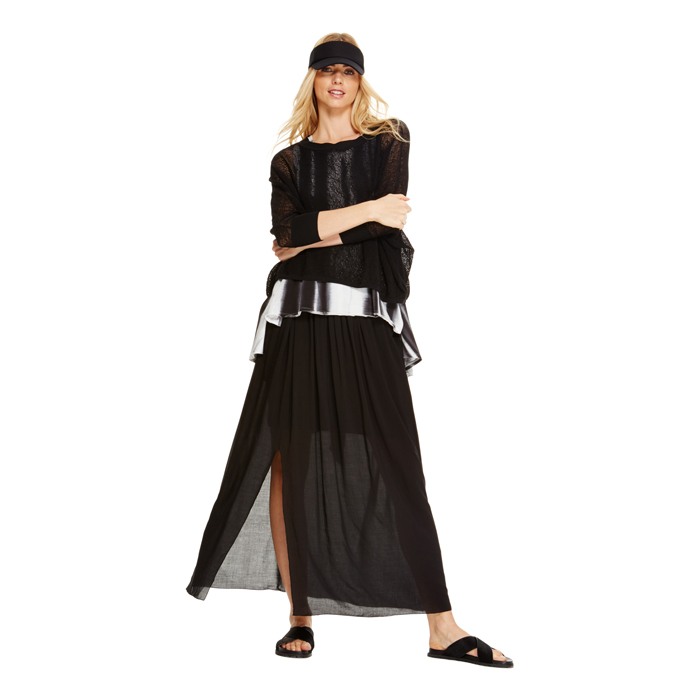 BLACK DKNY DKNYPURE PULL ON SKIRT Outlet Online