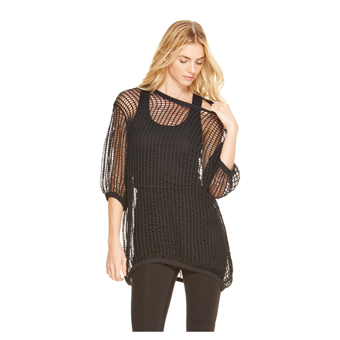 BLACK DKNY HAND CROCHET TUNIC Outlet Online