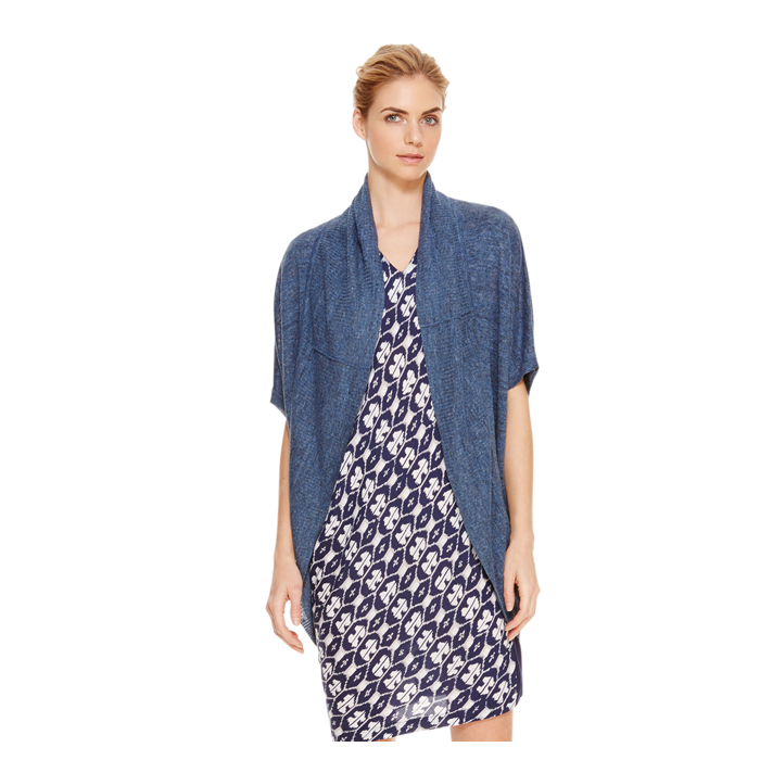 DENIM DKNY DKNYPURE LINEN OPEN FRONT CARDIGAN Outlet Online