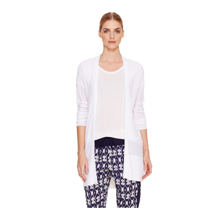 WHITE DKNY DKNYPURE OPEN FRONT CARDIGAN Outlet Online