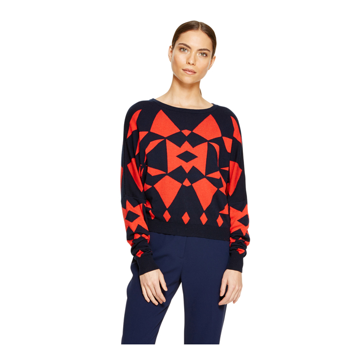 INK DKNY GEOMETRIC DOLMAN PULLOVER Outlet Online