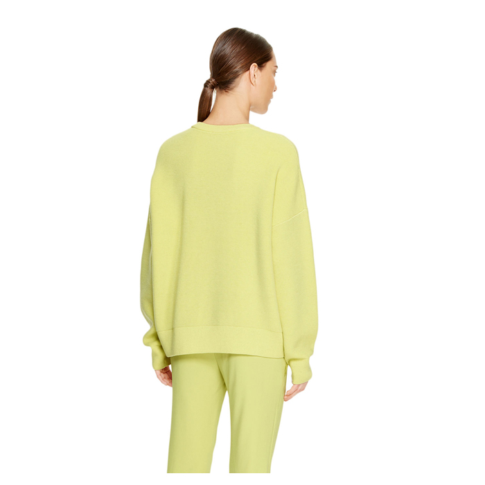 SAND GRASS DKNY RIPPLE STITCH CREWNECK PULLOVER Outlet Online