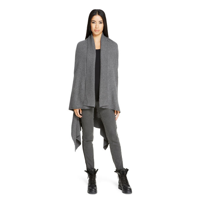 HEATHER GREY DKNY DKNYPURE WOOL COZY CAPE Outlet Online