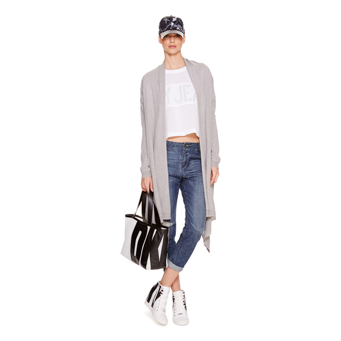 HEATHER GREY DKNY LONG SLEEVE COZY Outlet Online