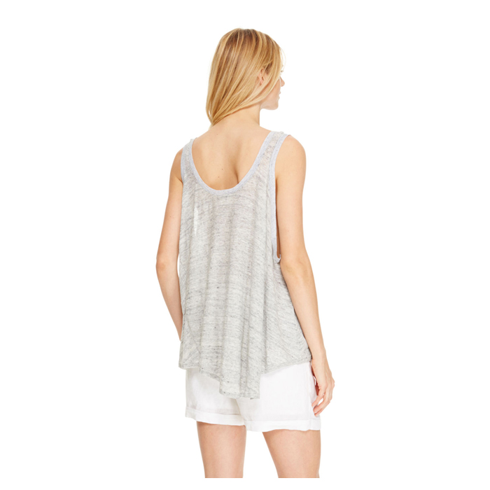 HEATHER GREY DKNY DKNYPURE LINEN DRAPEY TANK Outlet Online
