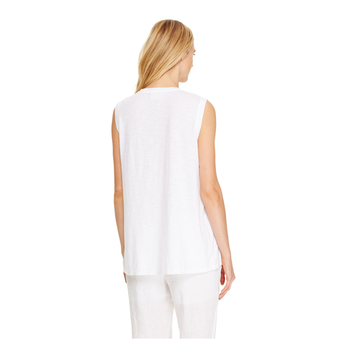 WHITE DKNY DKNYPURE SLEEVELESS TEE Outlet Online