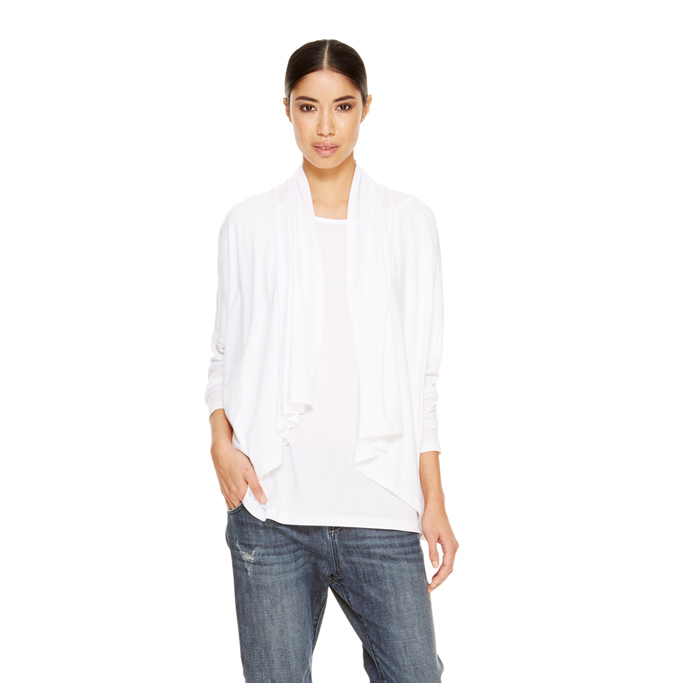 WHITE DKNY DKNYPURE LONG SLEEVE COZY TEE Outlet Online