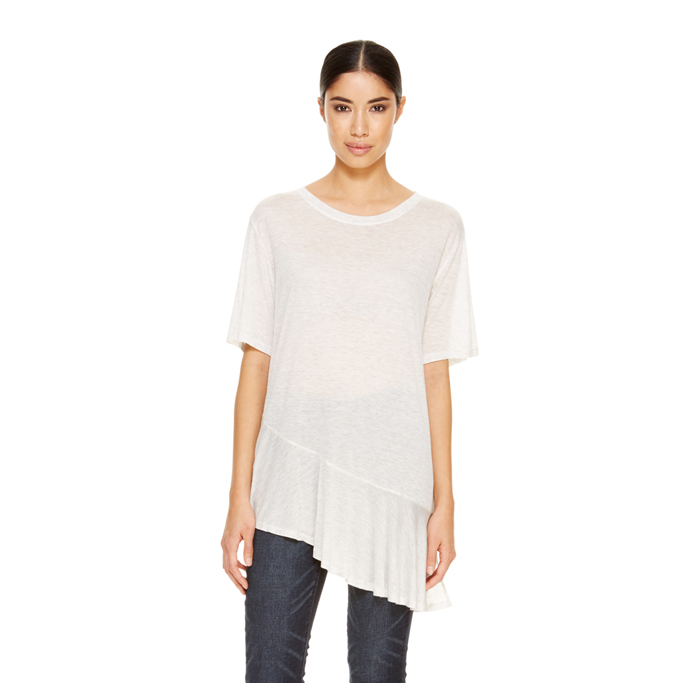 PALE HTH GRY DKNY DKNYPURE JERSEY FLUTTER TEE Outlet Online