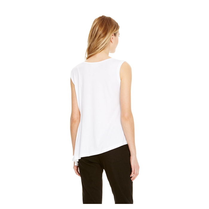WHITE DKNY DKNYPURE SIDE PLEAT TANK Outlet Online