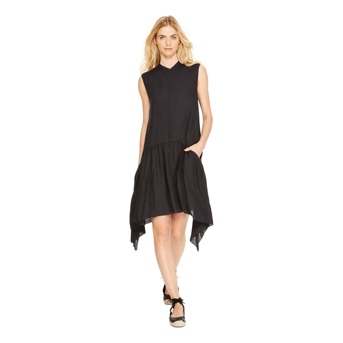 BLACK DKNY DKNYPURE DROP WAIST DRESS Outlet Online