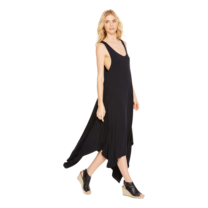 BLACK DKNY DKNYPURE DRAPEY TRAPEZE DRESS Outlet Online