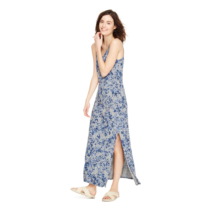 SMK GRY HTHR DKNY JEANS FLORAL MAXI DRESS Outlet Online