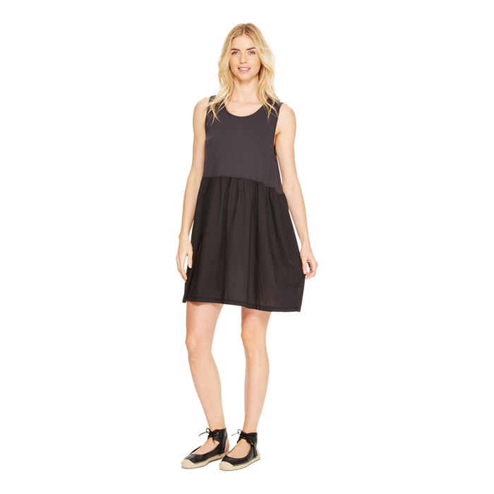 BLACK DKNY DKNYPURE SLEEVELESS COTTON DRESS Outlet Online