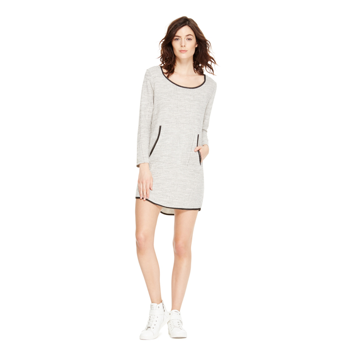 POLAR CREAM DKNY JEANS HOODIE DRESS Outlet Online