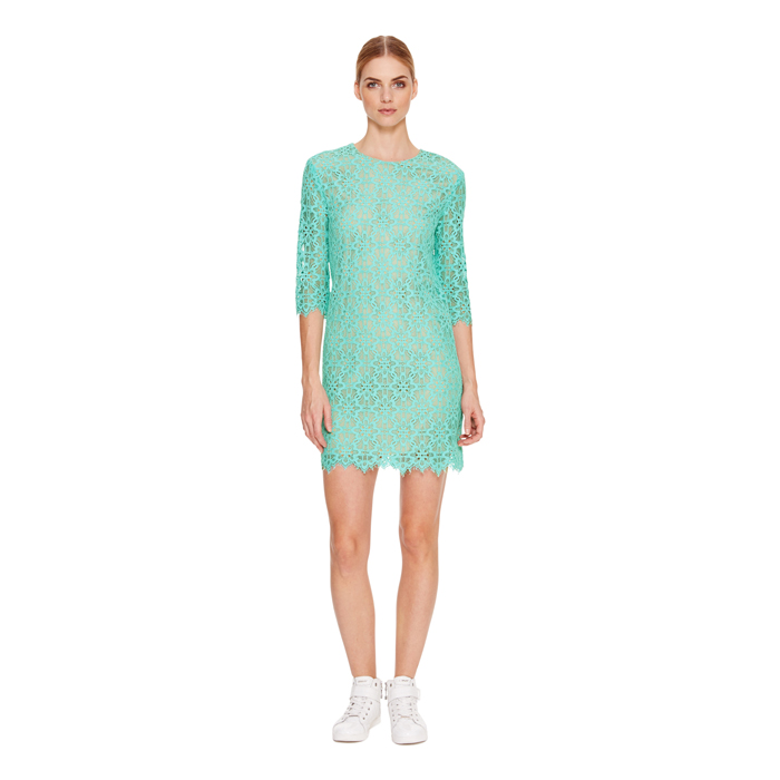 SUPER SONIC DKNY 3/4 SLEEVE LACE DRESS Outlet Online