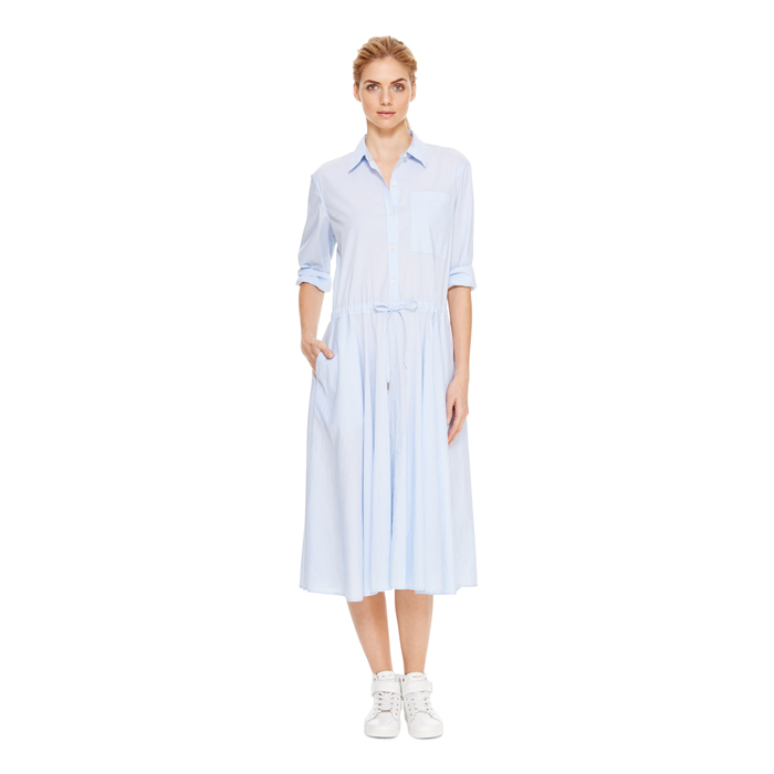 OXFORD BLUE DKNY DKNYPURE DRAWSTRING WAIST DRESS Outlet Online