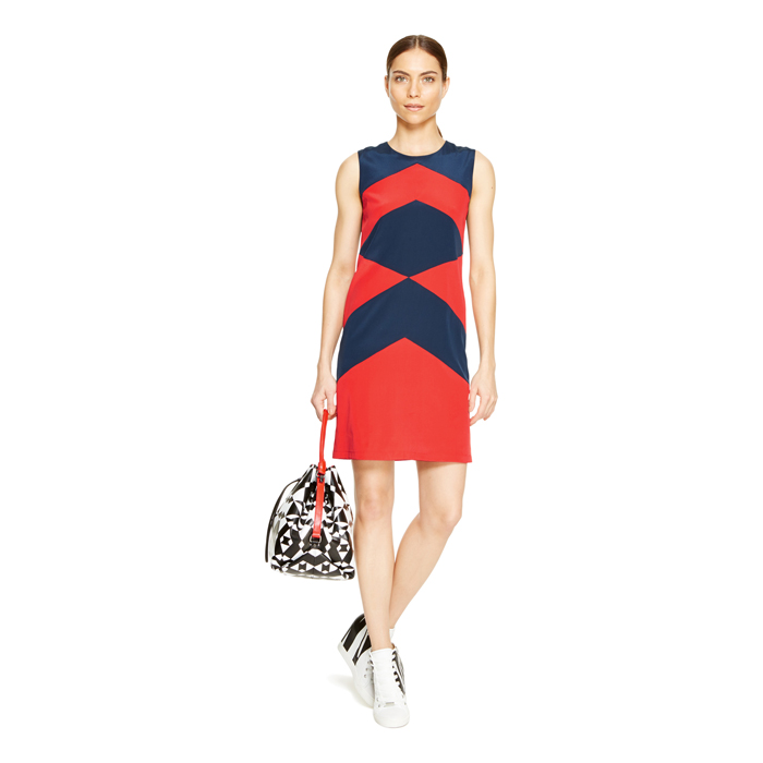 BLAZING DKNY COLOR BLOCK SHIFT DRESS Outlet Online