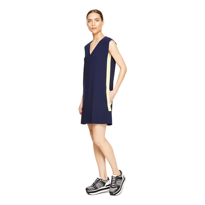 MIDNIGHT DKNY V-NECK SHEATH DRESS Outlet Online