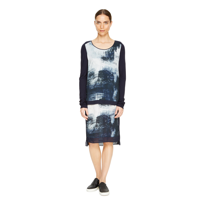 AERO DKNY DKNYPURE SMUDGE PRINT DRESS Outlet Online