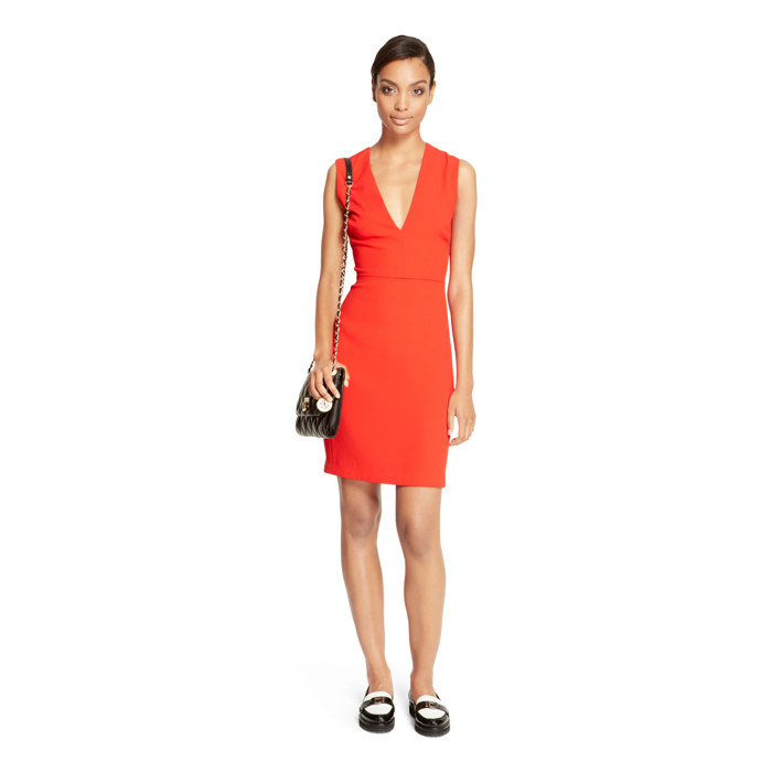 FLAME DKNY V-NECK SHEATH DRESS Outlet Online