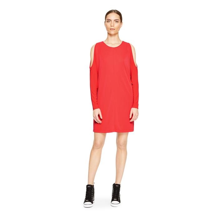 FLAME DKNY COLD SHOULDER JERSEY DRESS Outlet Online