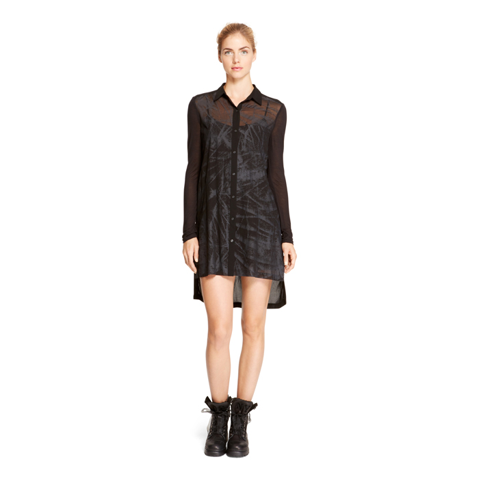 BLACK DKNY DKNYPURE ABSTRACT METALLIC TUNIC Outlet Online