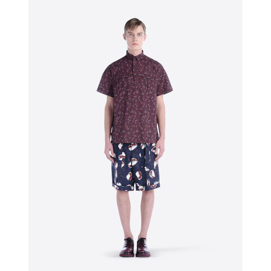 VALENTINO SHORT-SLEEVE PRINTED SHIRT IV0AAR4028R FE0 Outlet Online