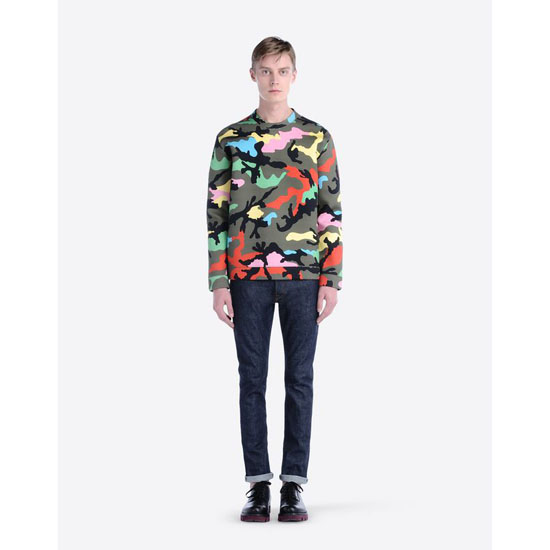 VALENTINO CAMOUFLAGE SWEATSHIRT IV0MF01G2J9 P00 Outlet Online